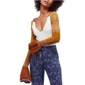 FREE PEOPLE Sunshien Thermal Tee Sweater SMALL